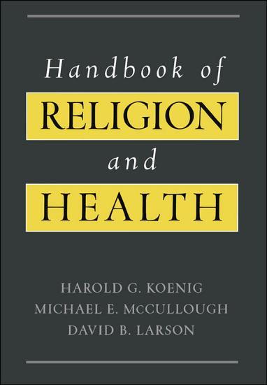 Handbook of Religion and Health PDF