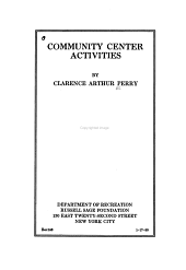 Community Center Activities