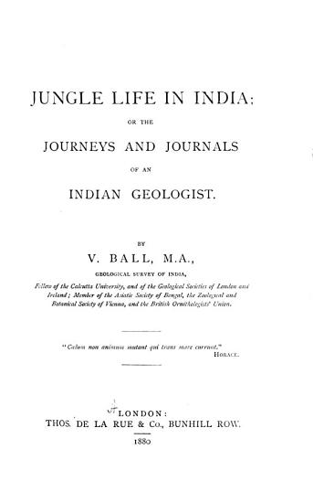 Jungle Life in India PDF