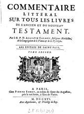 Commentaire litteral sur tous les livres de l'ancien et du nouveau testament: Volume23