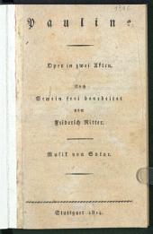 Pauline: Oper in zwei Akten