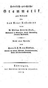 Hebräisch-griechische Grammatik zum Gebrauch für das Neue Testament