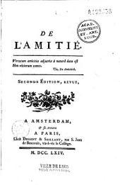 De l'Amitié... [par Marie-Geneviève-Charlotte Thiroux d'Arconville]