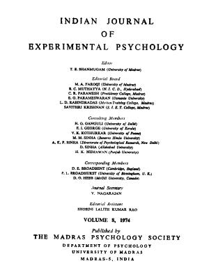 Indian Journal of Experimental Psychology PDF