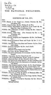 National Preacher: Volumes 15-16