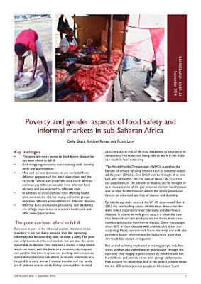Poverty and gender aspects of food safety and informal markets in sub-Saharan Africa