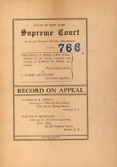 State of New York Supreme Court Appellate Division Fourth Department