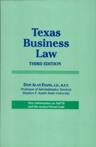 Texas Business Law Book