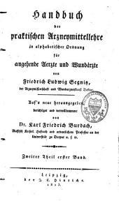 Handbuch der praktischen Arzneymittellehre, in alphabetischer Ordnung: für angehende Aerzte und Wundärzte, Band 1