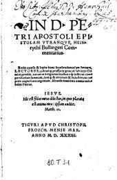 In D. Petri Apostoli Epistolam utranque ... Commentarius (etc.)