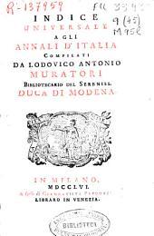 Indice universale a gli Annali d'Italia