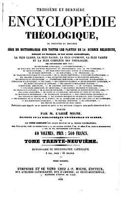 Troisi  me et derni  re Encyclop  die th  ologique PDF