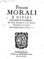Precetti morali e civili con molti e varij essempi