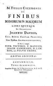 De finibus bonorum & malorum libri quinque