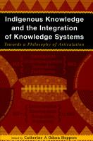 Indigenous Knowledge and the Integration of Knowledge Systems PDF