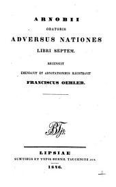 Arnobii oratoris Adversus nationes libri septem