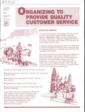 Organizing to provide quality customer service