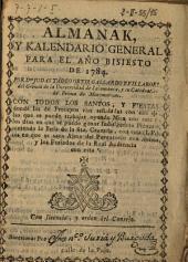 Almanak y kalendario general para el año bisiesto de 1784