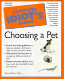 The Complete Idiot s Guide to Choosing a Pet PDF