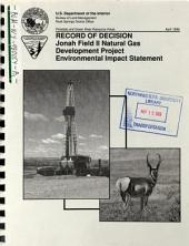 Jonah Field II Natural Gas Development Project, Sublette County,: Environmental Impact Statement