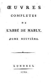 Œuvres complètes de l'abbé de Mably: Volume9