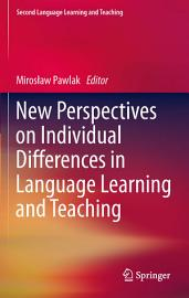 New Perspectives on Individual Differences in Language Learning and Teaching PDF