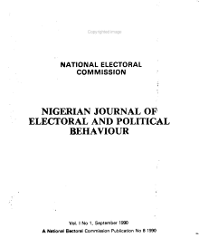 Nigerian Journal of Electoral and Political Behaviour PDF