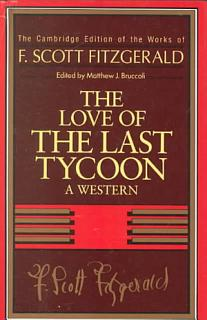 Fitzgerald  The Love of the Last Tycoon Book