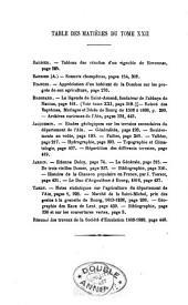 Annales: Volumes22à23
