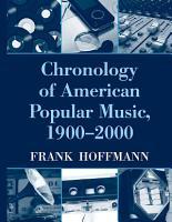 Chronology of American Popular Music  1900 2000 PDF