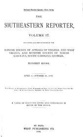 The Southeastern Reporter: Volume 17
