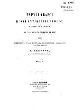 Papyri Graeci Musei Antiquarii Publici Lugduni Batavi: Volume 2