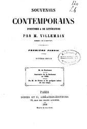 Souvenirs contemporains d'histoire & de littérature: Les cent-jours