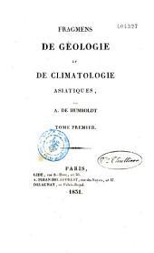 Fragments de géologie et de climatologie asiatiques