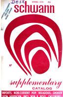 Schwann Supplementary Catalog PDF
