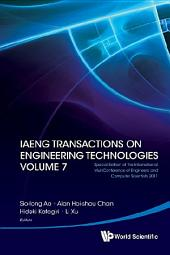 Iaeng Transactions on Engineering Technologies Volume 7