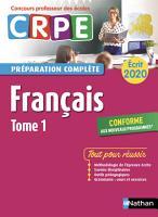Fran  ais   Epreuve   crite 2020   Tome 1  CRPE     EFL3    2019 PDF