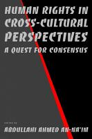 Human Rights in Cross cultural Perspectives PDF