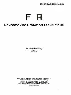 FAR Handbook for Aviation Maintenance Technicians