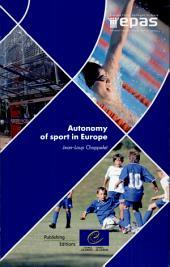 Autonomy of Sport in Europe
