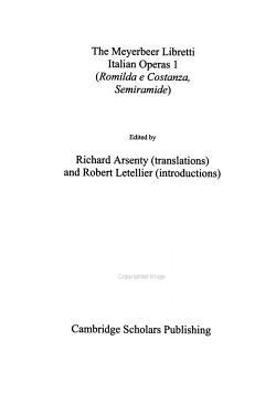The Meyerbeer Libretti  Italian operas 1 PDF