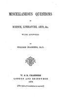 Miscellaneous Questions in Science  Literature  Arts  Etc PDF