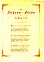 Zur Jahres-Feier des 6. März 1848: (Von constitutionell-monarchischen Verein für Freiheit u. Gesetzwidrigkeit.)