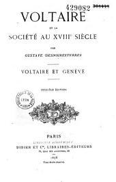 Voltaire et la société française au XVIIIe siècle