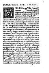 De Roma prisca et nova varii auctores prout in sequenti pagella cernere est