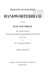 Hebräisches und chaldäisches handwörterbuch über das Alte Testament: Band 1