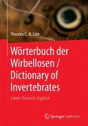 W  rterbuch der Wirbellosen   Dictionary of Invertebrates PDF