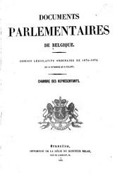 Documents parlementaires de Belgique: Session législative de ...