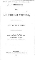 A Compilation of the Laws of the State of New York PDF
