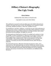 Hillary Clinton's Biography: The Ugly Truth: Biography Series